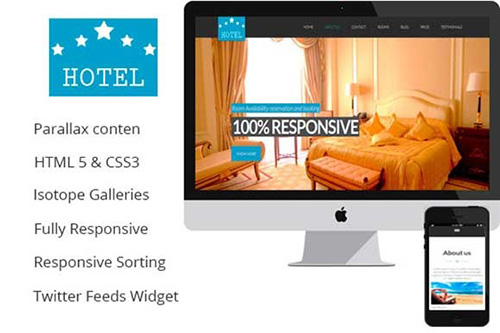 CreativeMarket - Comfort - A One Page Hotel / House Rent Parallax Bootstrap Template