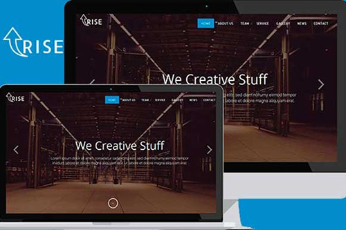 CreativeMarket - Rise Up - Onepage Corporate Multipurpose Template