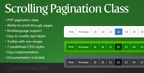 CodeCanyon - Scrolling Pagination Class v1.0