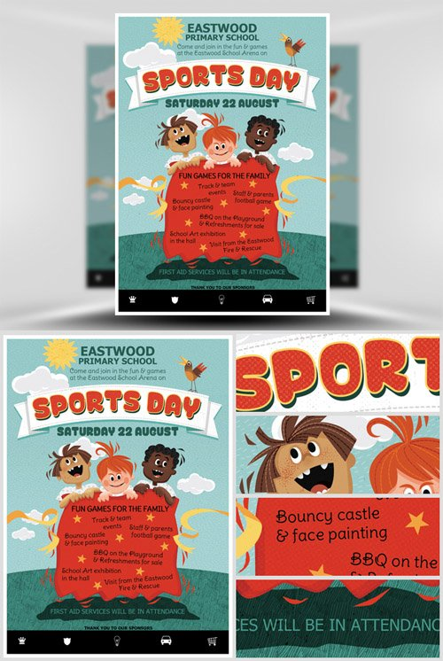 kids sports day flyer template  u00bb nitrogfx