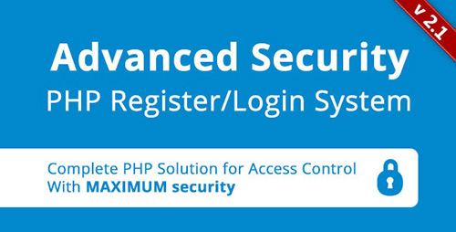 CodeCanyon - Advanced Security v2.0 - PHP Register/Login System