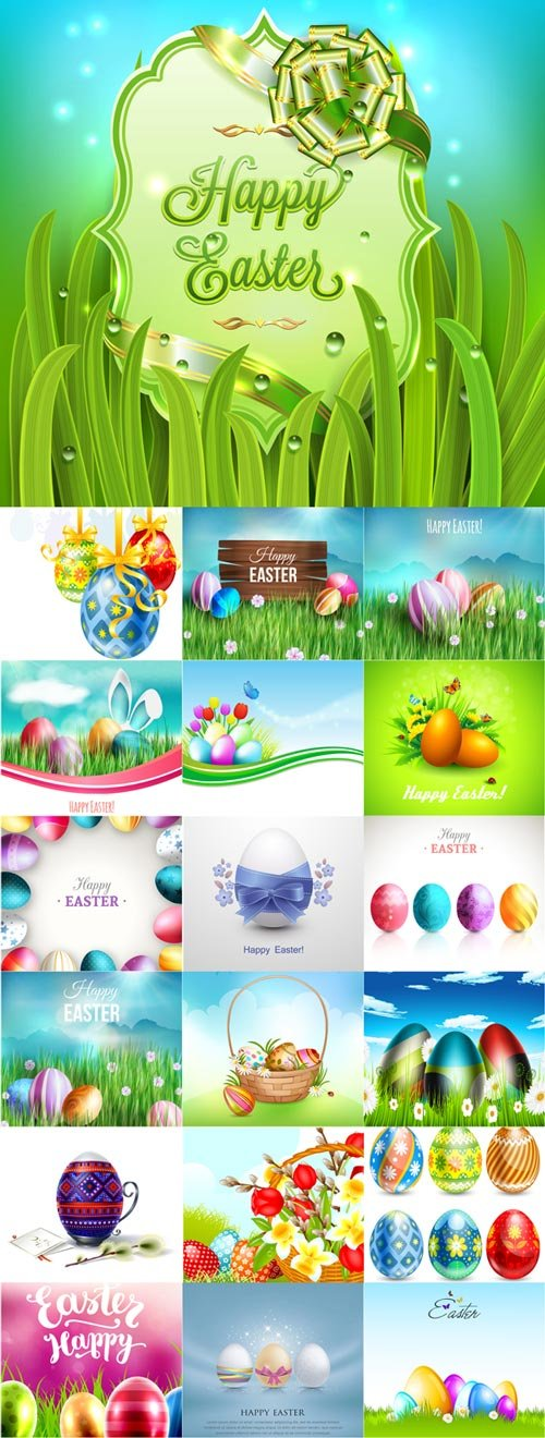 Happy Easter vector 2