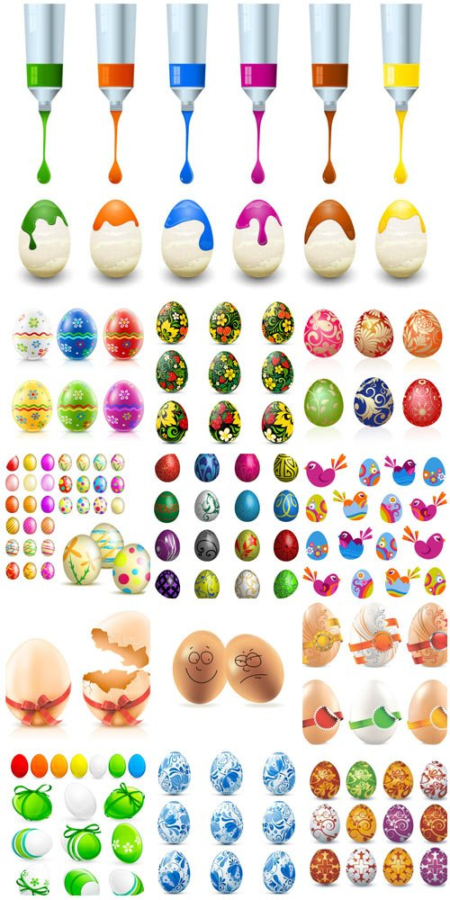 Easter eggs vector graphics
