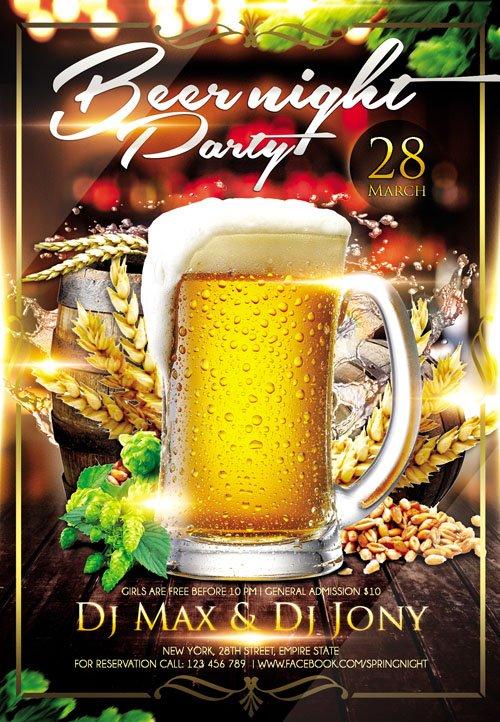 flyer psd template - beer night plus fb cover  u00bb nitrogfx