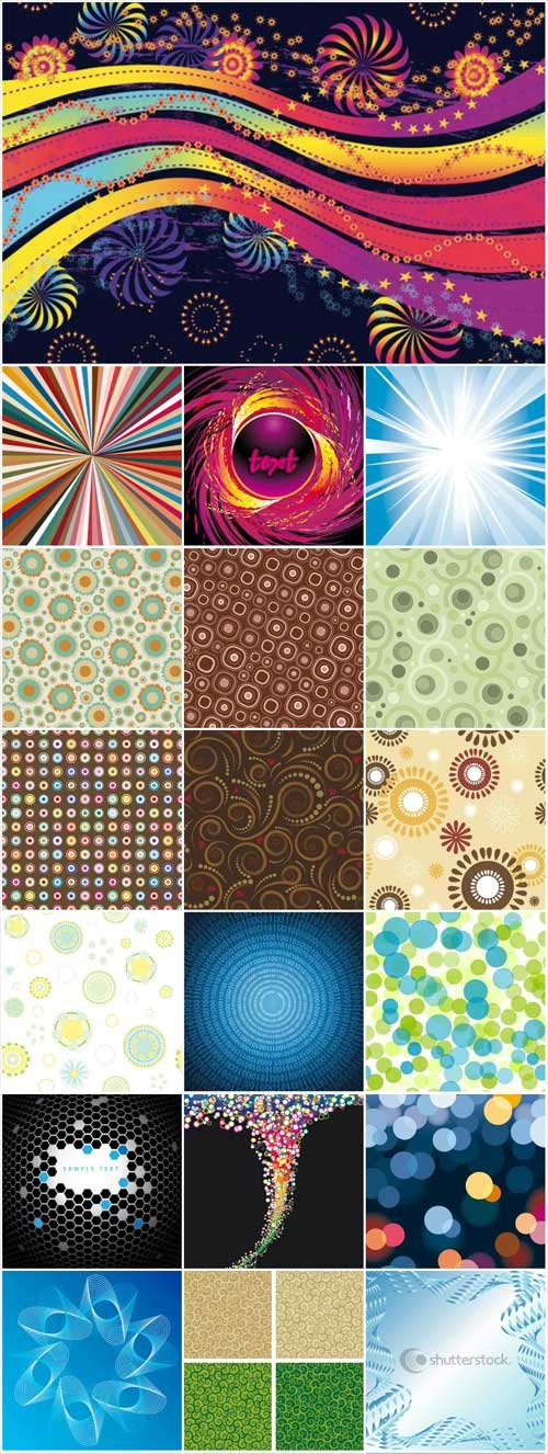 Abstract patterns backgrounds stock vector