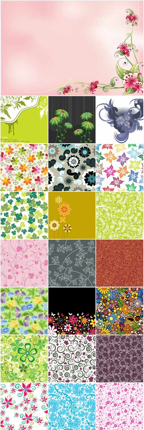 Floral patterns backgrounds stock vector