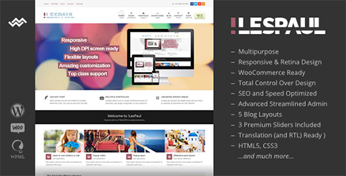 ThemeForest - !LesPaul v3.0.1 - Retina Responsive WordPress Theme