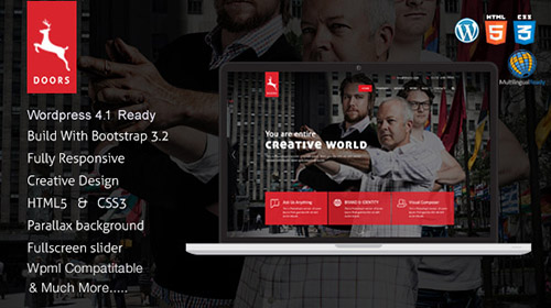 ThemeForest - Doors v2.0.3 - Parallax Responsive One Page wordpress theme