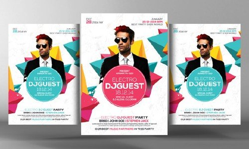 cm electro dj party flyer template 220314
