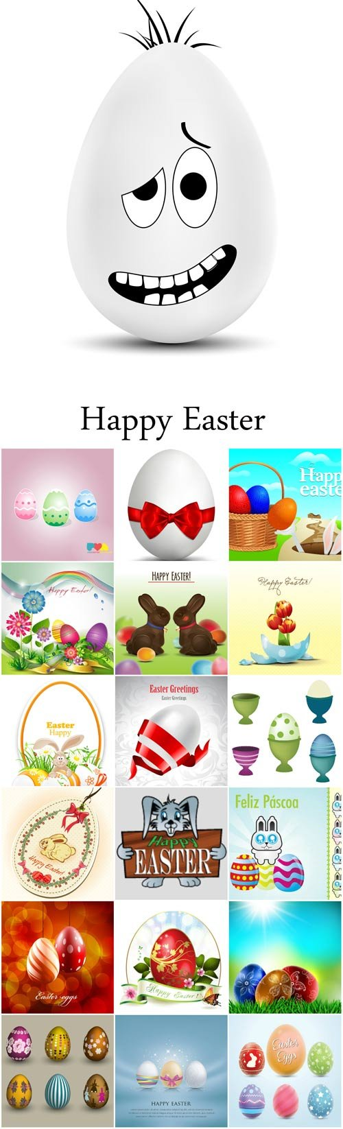 Easter backgrounds and cards vector - 2
