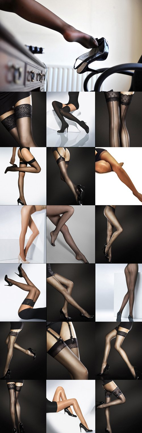 Graceful and beautiful female legs