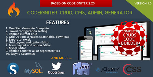 CodeCanyon - Codeigniter CMS v1.2 - CRUD Builder - Administrator