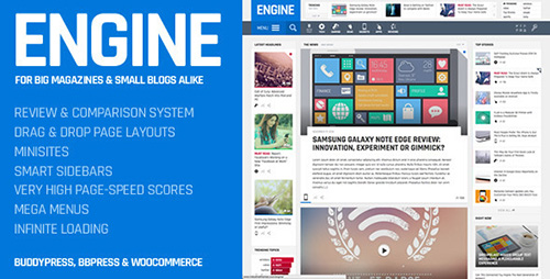 ThemeForest - Engine v1.4 - Drag and Drop News Magazine w/ Minisites