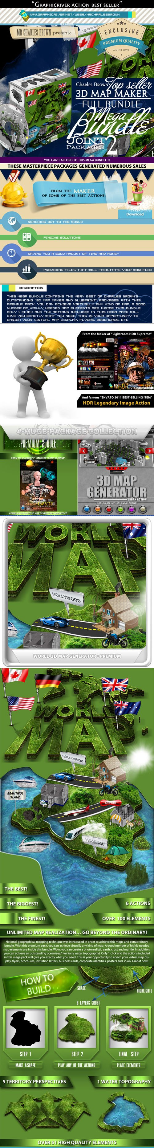 Graphicriver All Charles Brown's 3D Map Maker Bundle 10682400 - DMCA