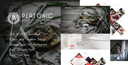 Themeforest Platonic Restaurant Html5 Template Rip
