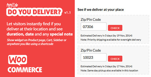 CodeCanyon - WooCommerce Do you Deliver? v1.1