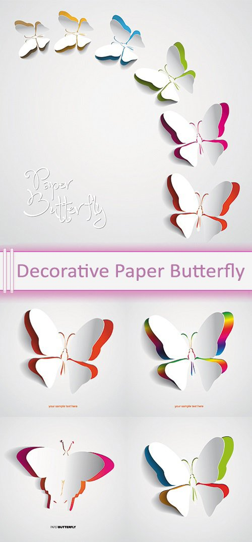Vector Decorative Paper Butterfly