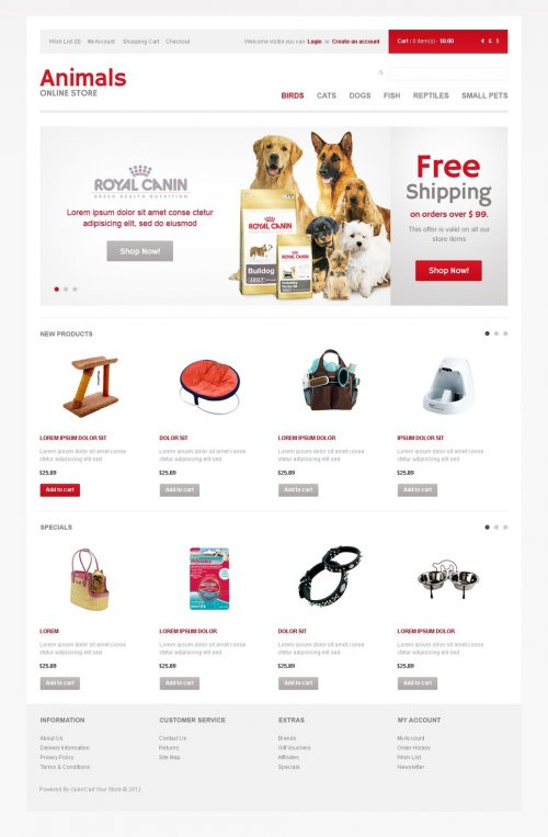 TemplateMonster - Animals Store - OpenCart Template
