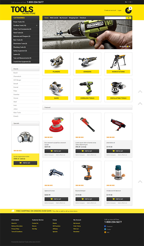 TemplateMonster - Tools - OpenCart Template