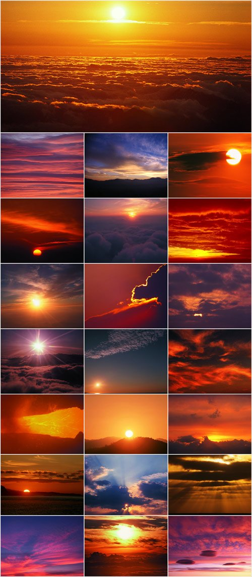 Beautiful sky. Sunrises and Sunsets part 1