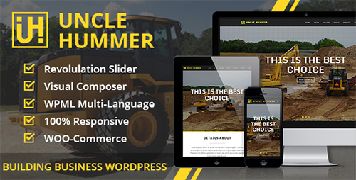 ThemeForest - Uncle Hummer v2.1.3 - Responsive WordPress Building Theme