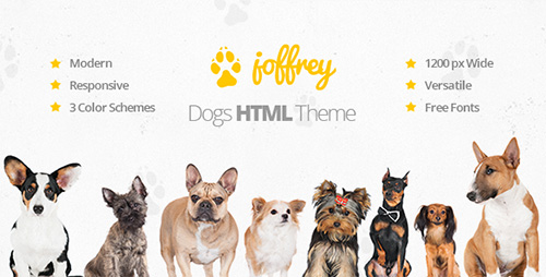 ThemeForest - Joffrey - An HTML Template for Dog Lovers - RIP