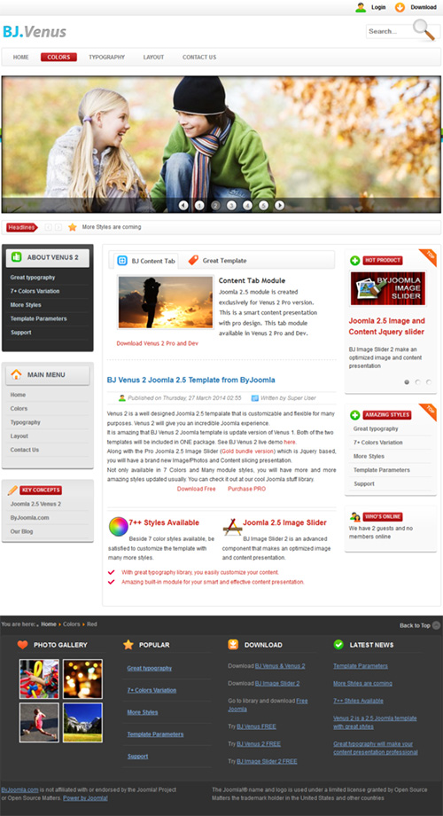 CreativeMarket - B Venus 2 - Light and Bright Joomla
