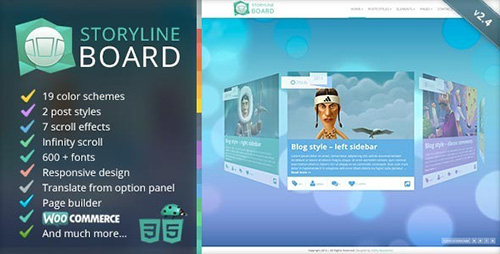 ThemeForest - Storyline Board v2.5.1 - WordPress Theme