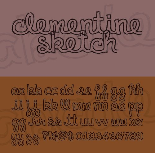 Clementine Sketch Font Style