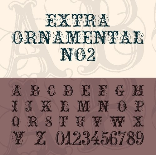 Extra Ornament Font Style