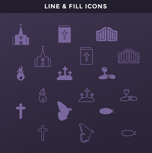Ai Vector Web Icons - Christian Icons