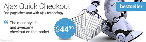 AJAX Quick Checkout (one-page-checkout, checkout checkout) v4.2.3 - Extension For OpenCart
