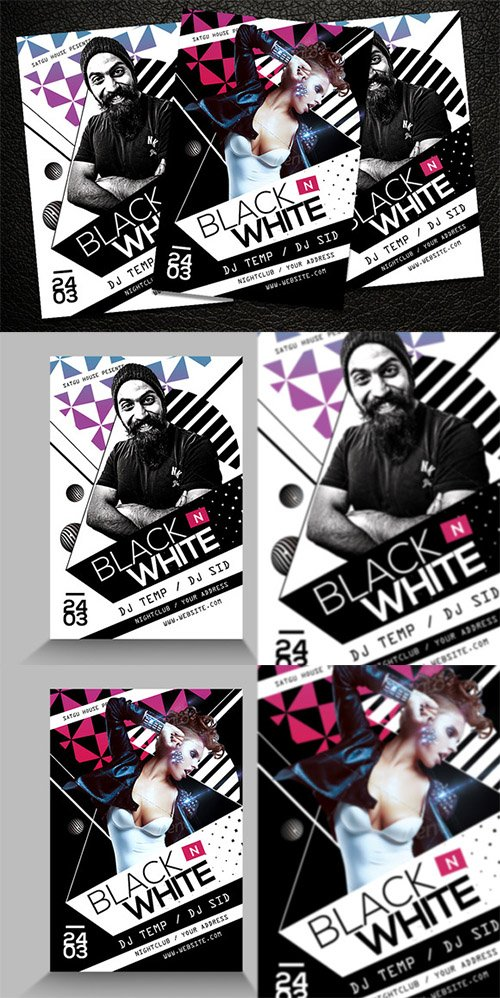 CM - Black and White Party Flyer 230088