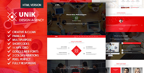 ThemeForest - Unik - Creative Multipurpose HTML Template - FULL