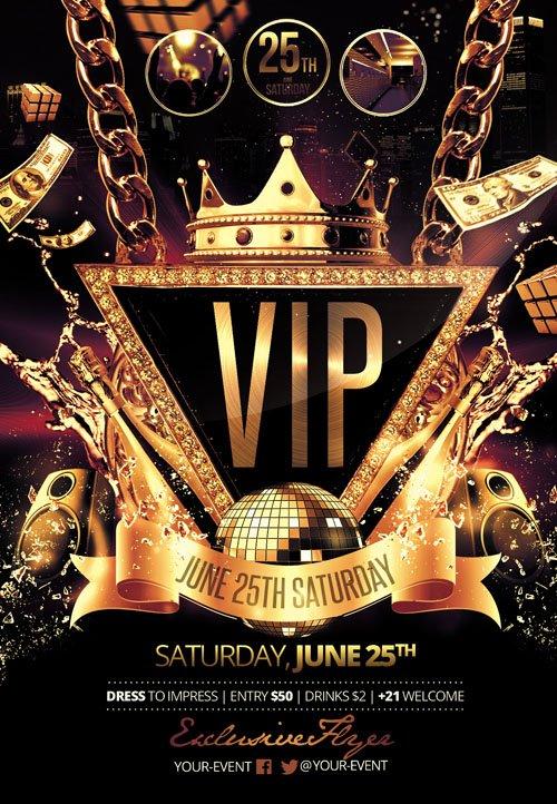 Flyer Template Vip Party Facebook Cover 187 Nitrogfx