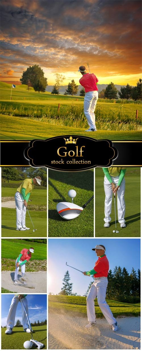 Golf, a man on the golf course - stock photos