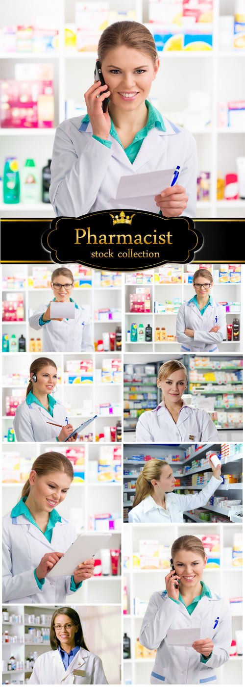Pharmacist, pharmacy - stock photos