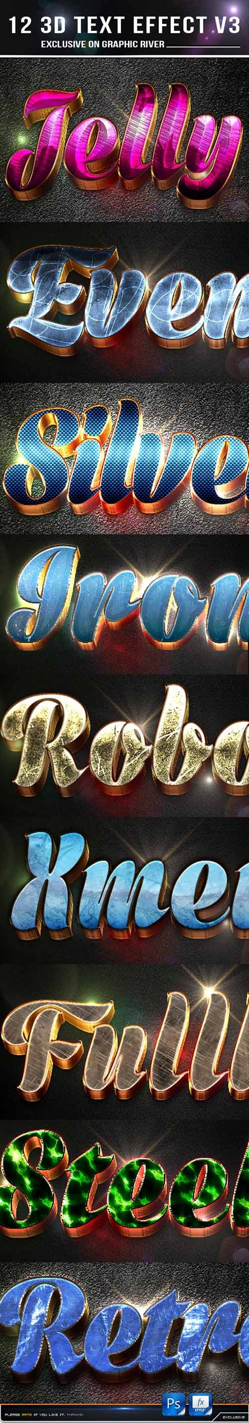 GraphicRiver - 12 3d Text Effect v4 10938614