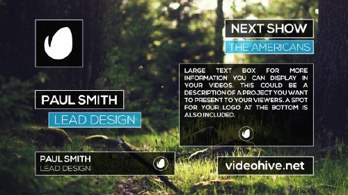 VideoHive - Clean Lower Thirds 10884029