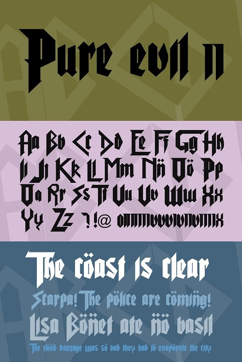 Pure Evil Font Style