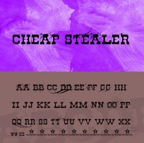 Cheap Stealer Font Style