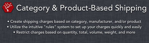 Category & Product-Based Shipping v200.2 - Extension For OpenCart