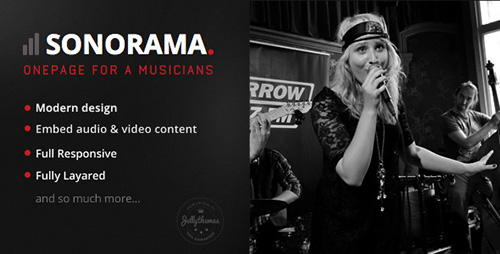 ThemeForest - Sonorama v1.2 - Onepage Music Template - FULL