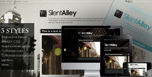 ThemeForest - Silent Alley v1.3 - Responsive Multi-Color Tumblr Theme