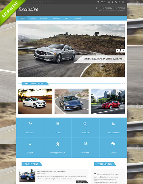 FlashMint - Cars Responsive Bootstrap HTML Theme