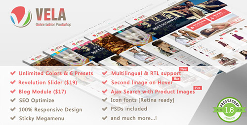ThemeForest - Vela v1.2.2 - Responsive Prestashop Theme