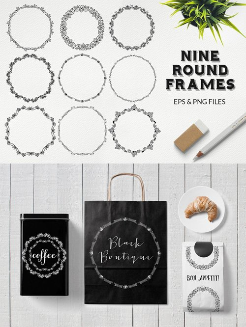 Round Frames Vector Set