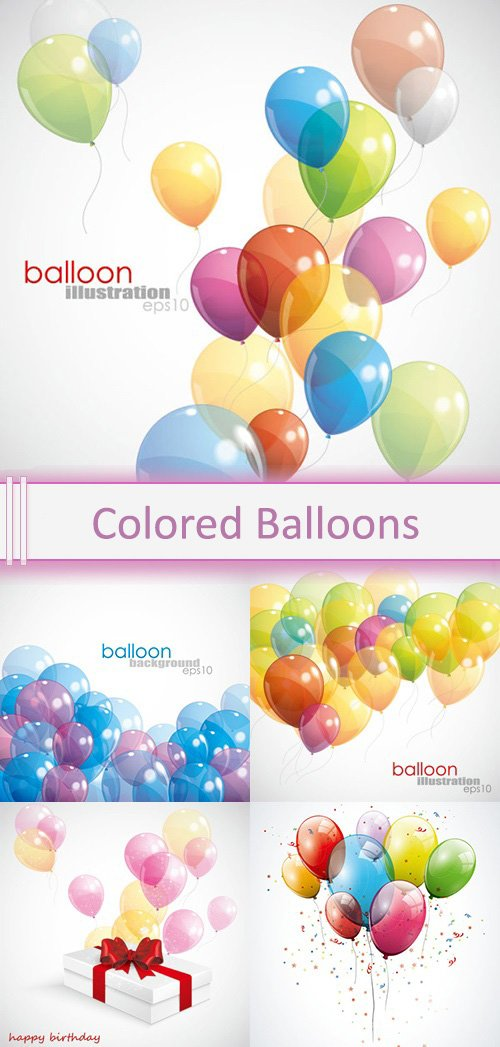 Vector Colored Balloons