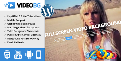 CodeGrape - HTML5 Video Background WordPress Plugin