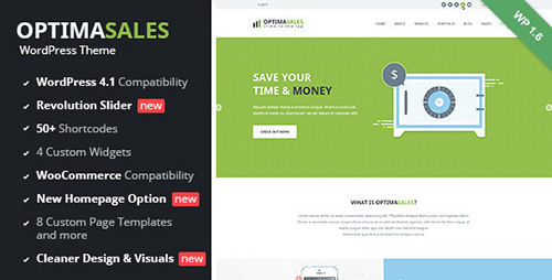 ThemeForest - OptimaSales v1.3.2 - Responsive WordPress Theme